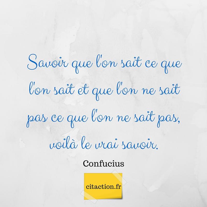 Le vrai savoir (Confucius)