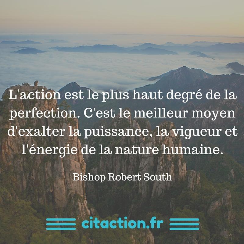 L'action est le plus haut degré de la perfection