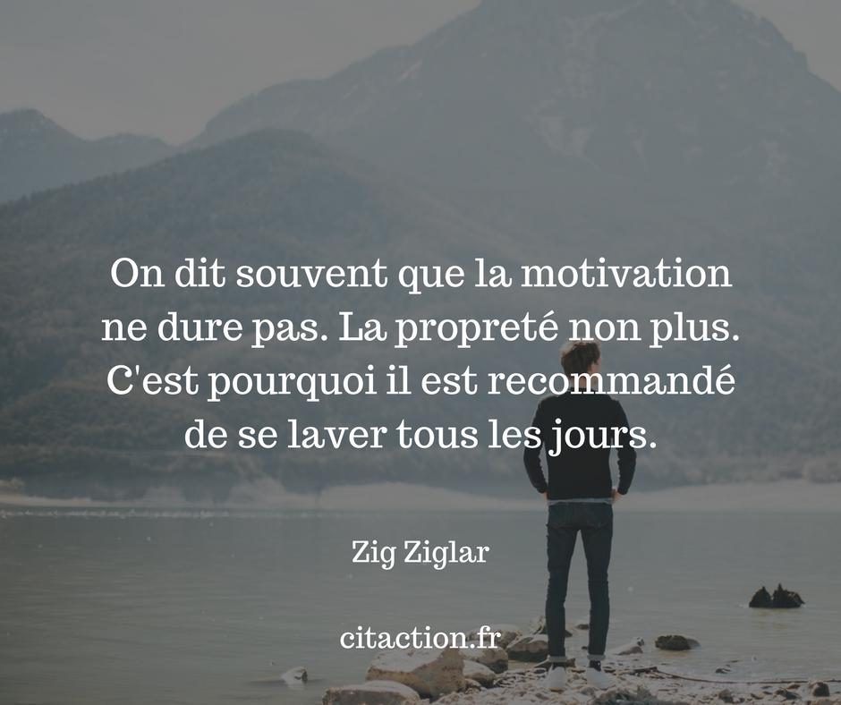 On dit souvent que la motivation ne dure pas.
