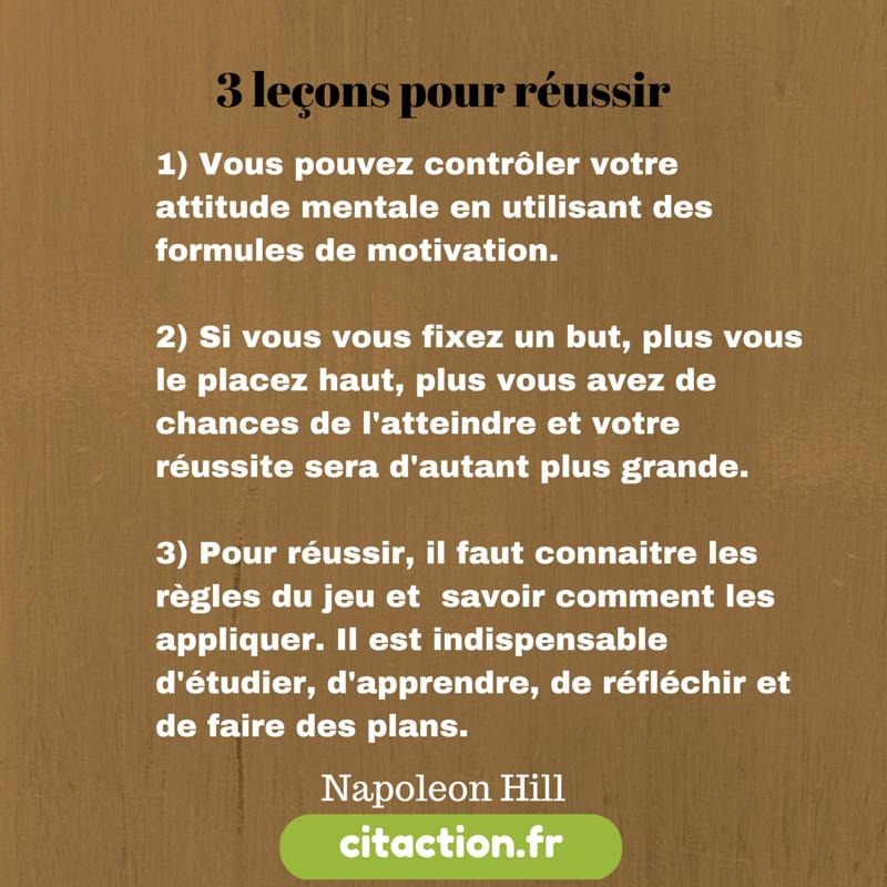 3 leçons pour réussir par Napoleon Hill