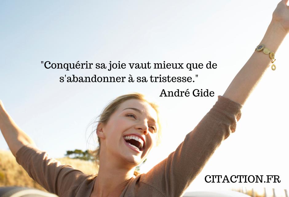 Conquérir sa joie…